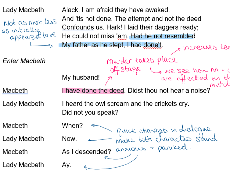 Macbeth Act 2 Annotations