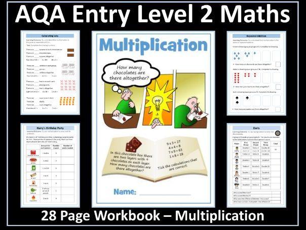 Multiplication: AQA Entry Level 2 Maths