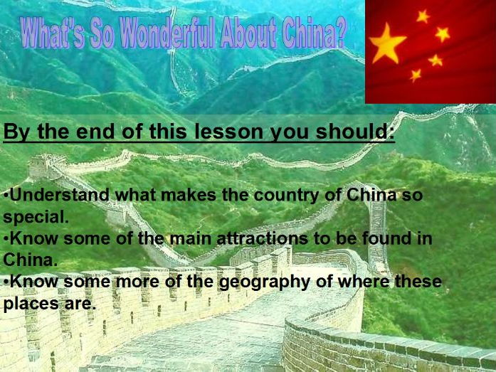 China 2 - What's so wonderful about China?