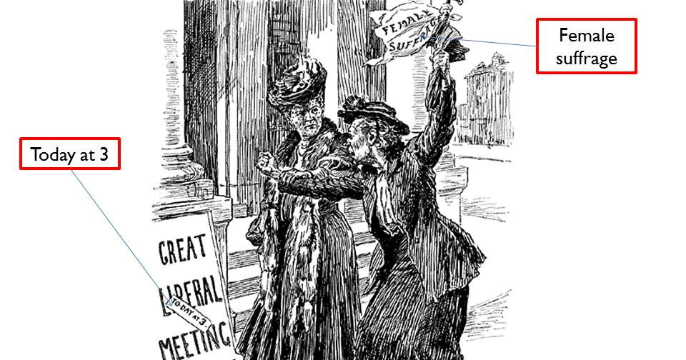 Who were the suffragists and the suffragettes?