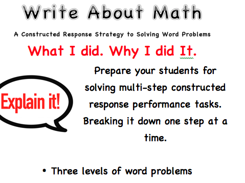 Multi-step Constructed Response Math Word Problems