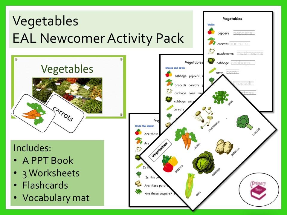 Vegetables EAL Newcomer Activity Pack