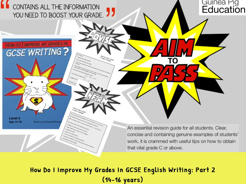 How Do I Improve My Grades In GCSE English writing? PART 2 (14-16 years)