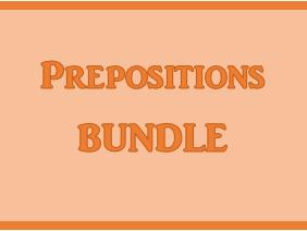 Preposizioni (Prepositions in Italian) Bundle