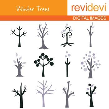 Winter Trees Clip Art