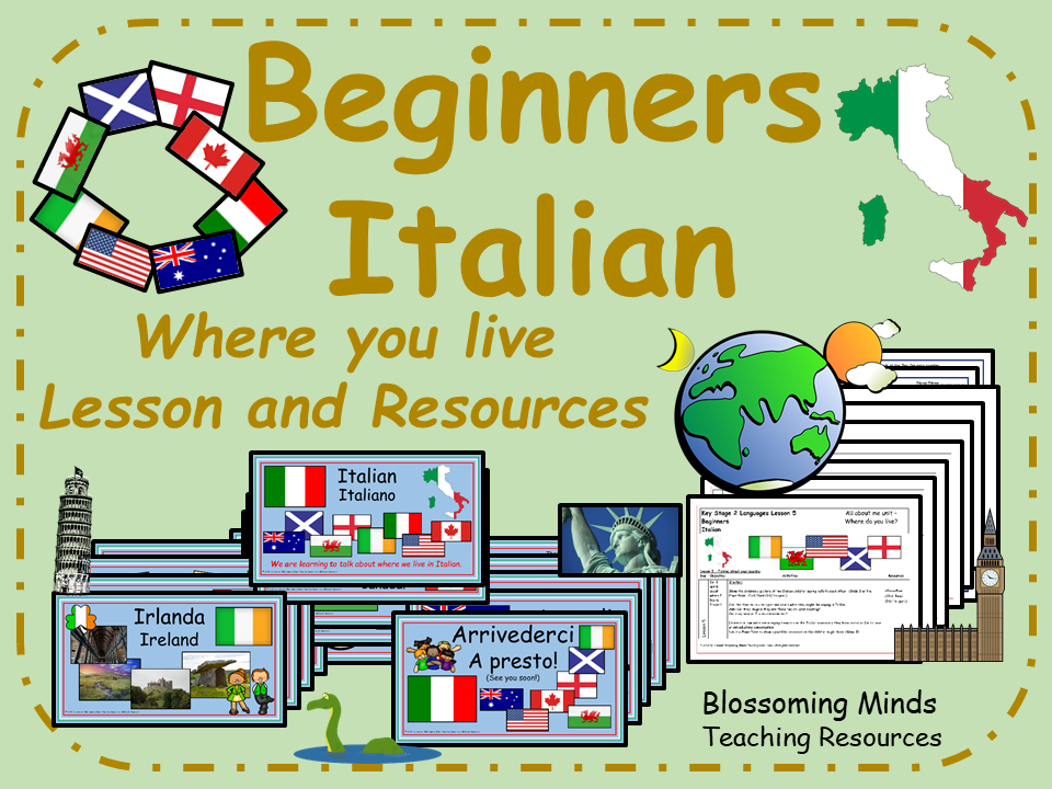 Italian Lesson and Resources : Where you live