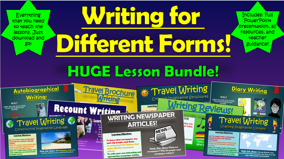 Writing for Different Forms Huge Bundle!