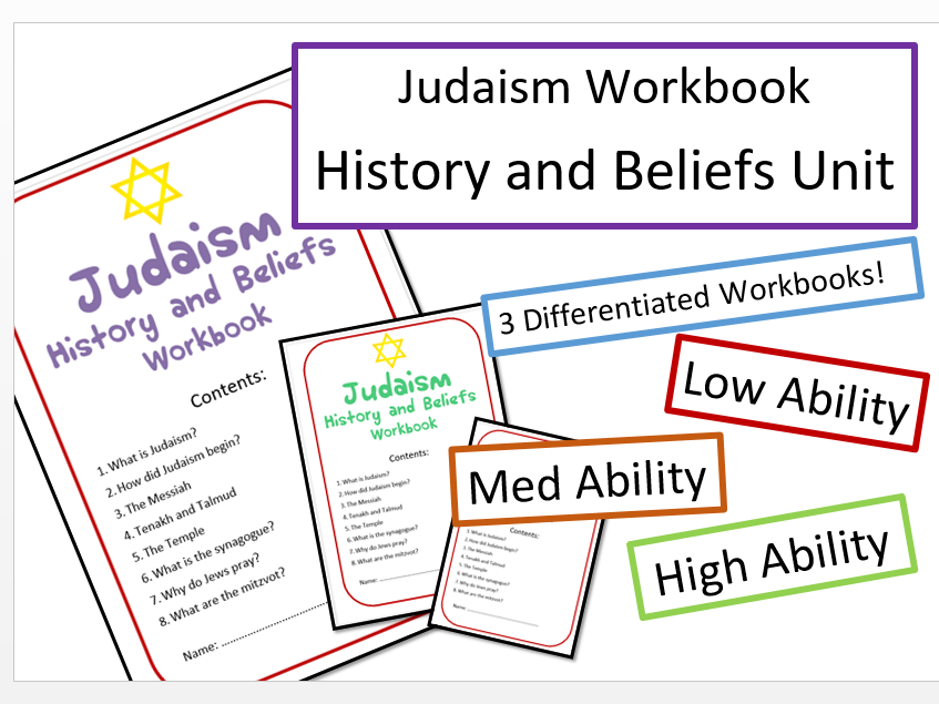 Judaism: History and Beliefs Differentiated Workbook Bundle