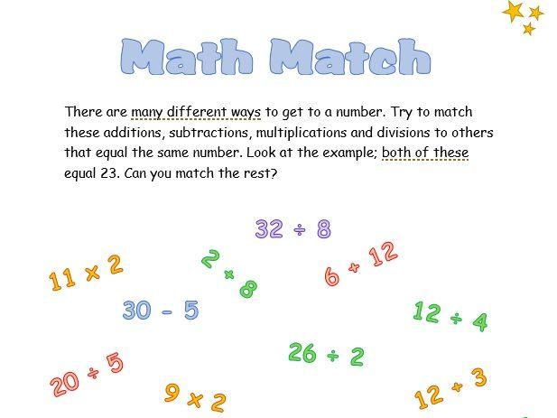 Math Match