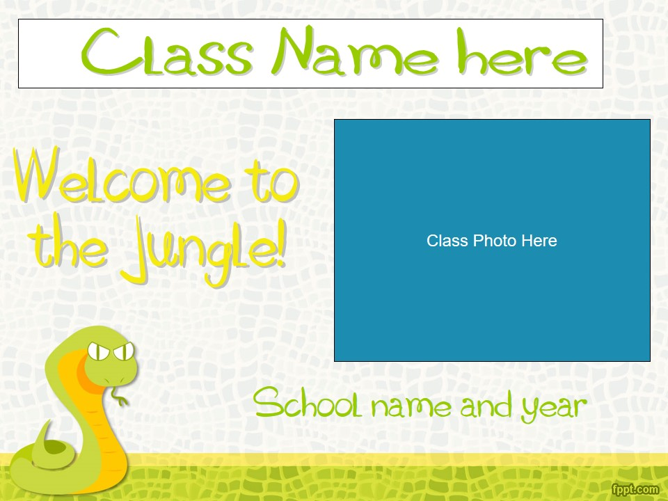 Back to School/Meet The Teacher/Open House Slideshow - Jungle Theme