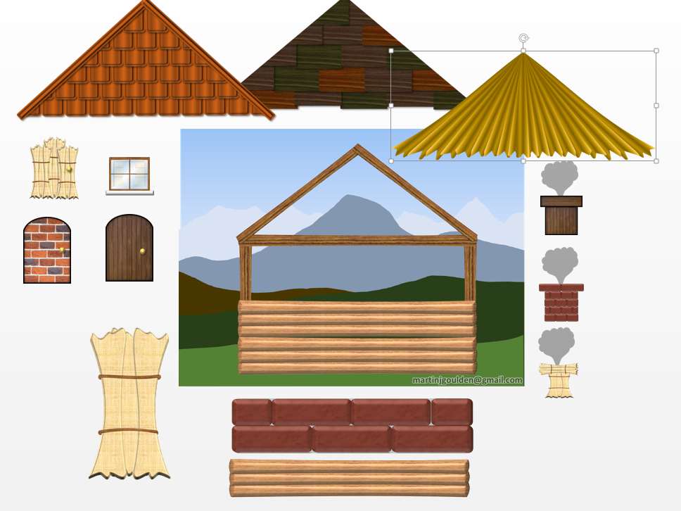 The Three Little Pigs - Create\Build a House out of different materials
