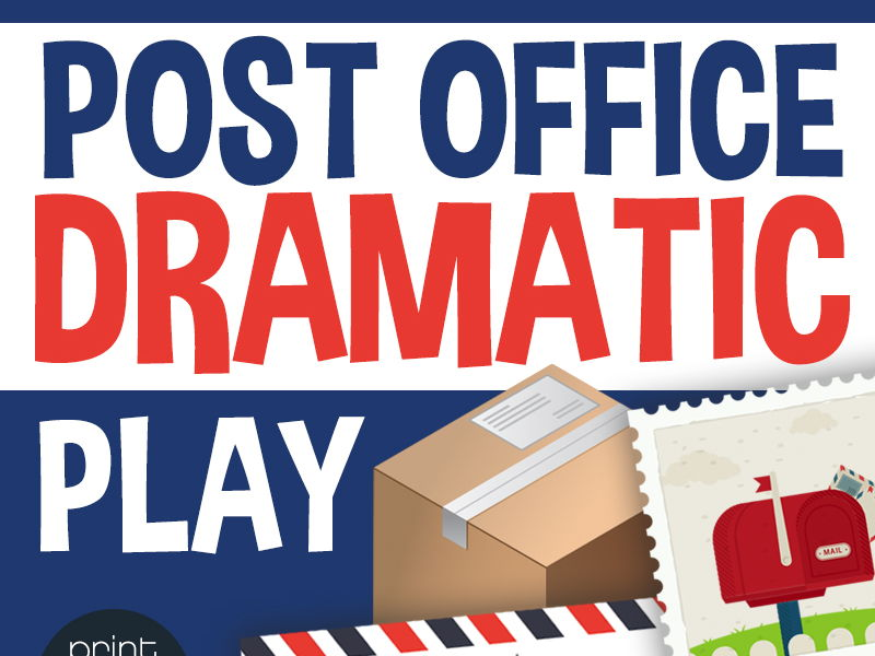 Dramatic Play Post Office - Preschool and Kindergarten
