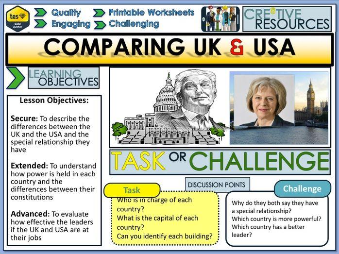 UK  and USA - Comparing Politics