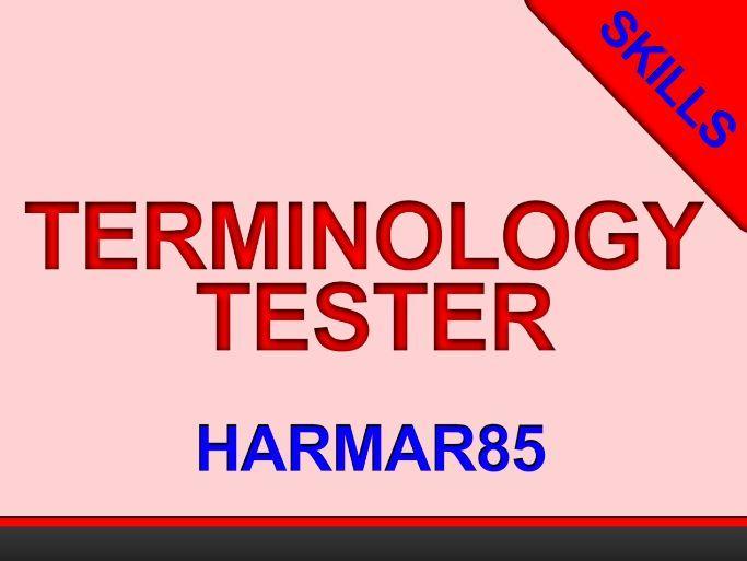 Terminology Tester -self-marking- Industries