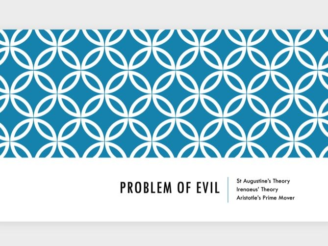 A Level RS: Problem of Evil Revision Powerpoint