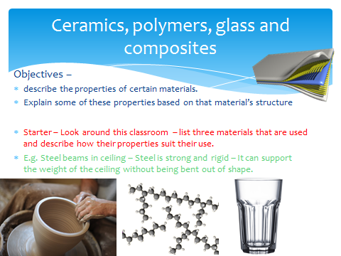 Using Resources Topic: Ceramics, polymers, composites and glass AQA GCSE - Updated