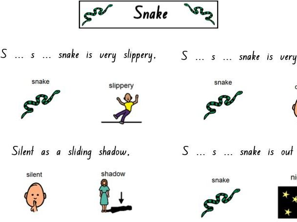 Snakes: Aboriginal poem and activities