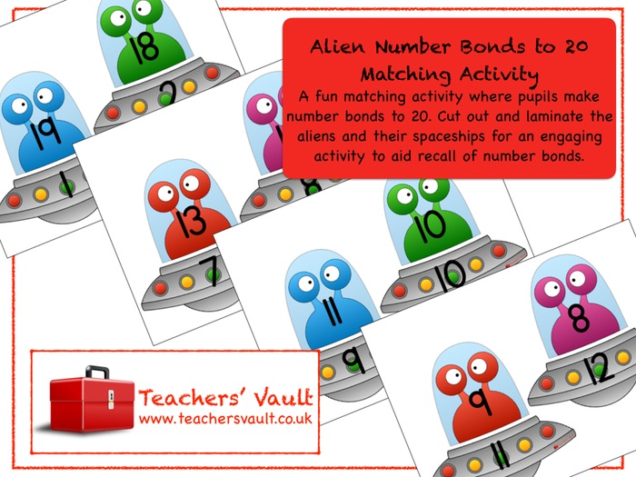 Alien Number Bonds to 20 Matching Activity