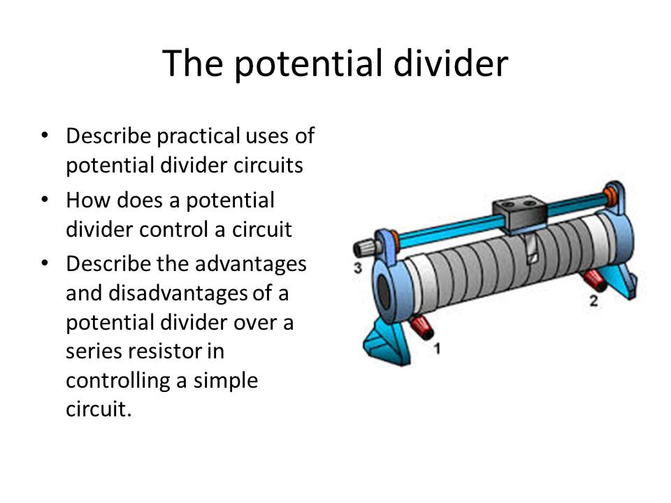 The potential divider