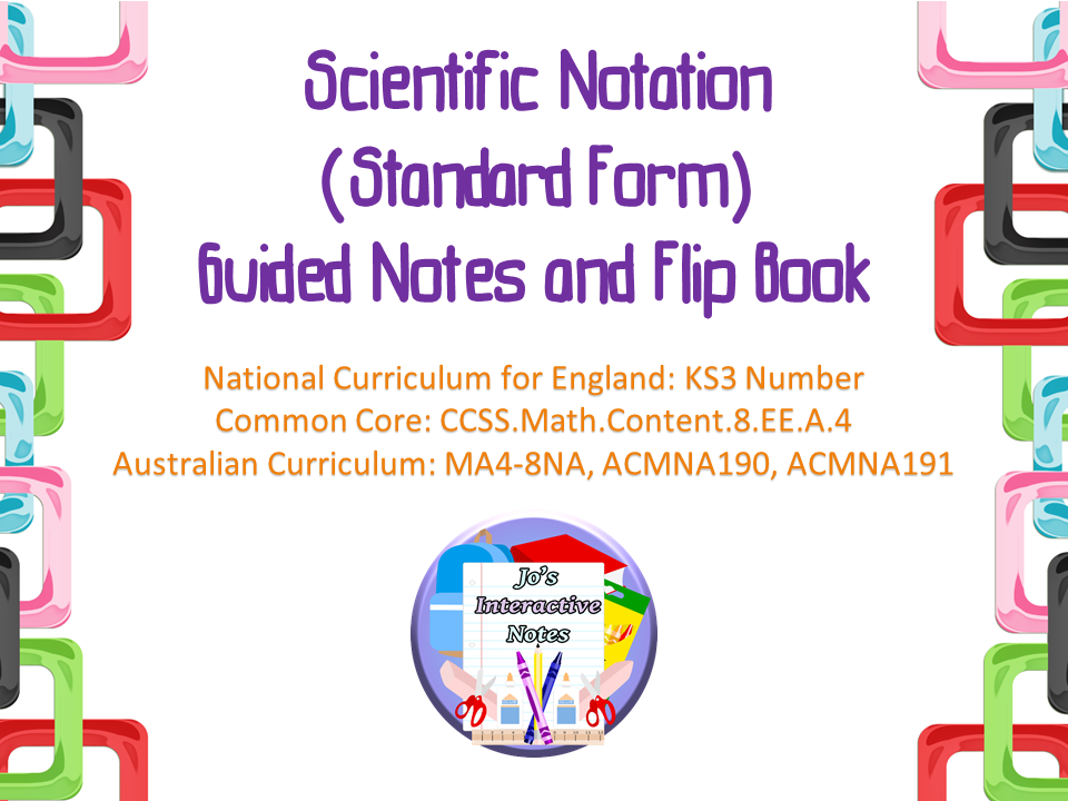 Scientific Notation Standard Form Guided Notes And Interactive