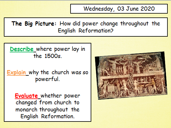 English Reformation Overview Lesson