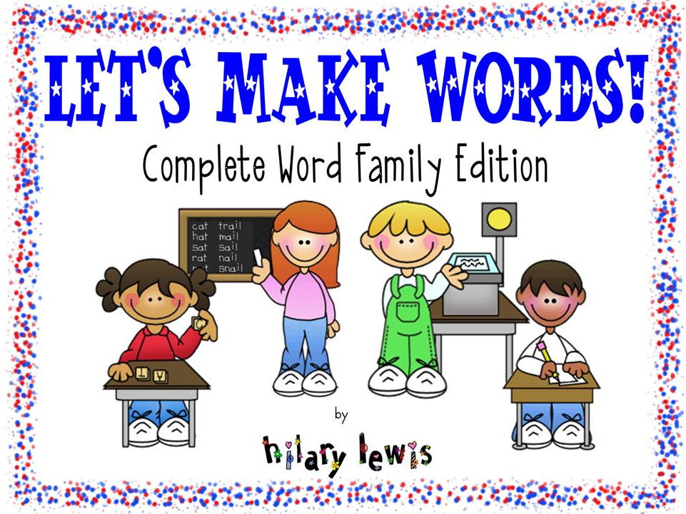Word Family Literacy Station Activities - Short, Long, and Special Vowel Sounds