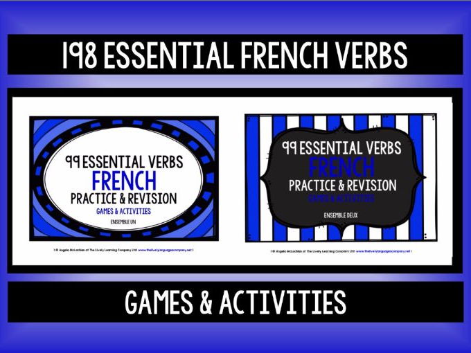 FRENCH VERBS (1 & 2) - 198 ESSENTIAL VERBS - GAMES & ACTIVITIES