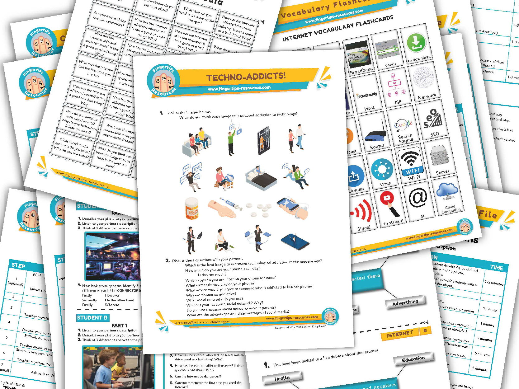 Internet & Social Media Unit - ESL Activity Bundle