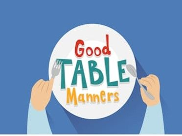 Kids for table manners Top Table