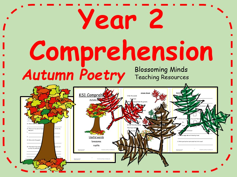 Year 2 poetry comprehension - Autumn theme