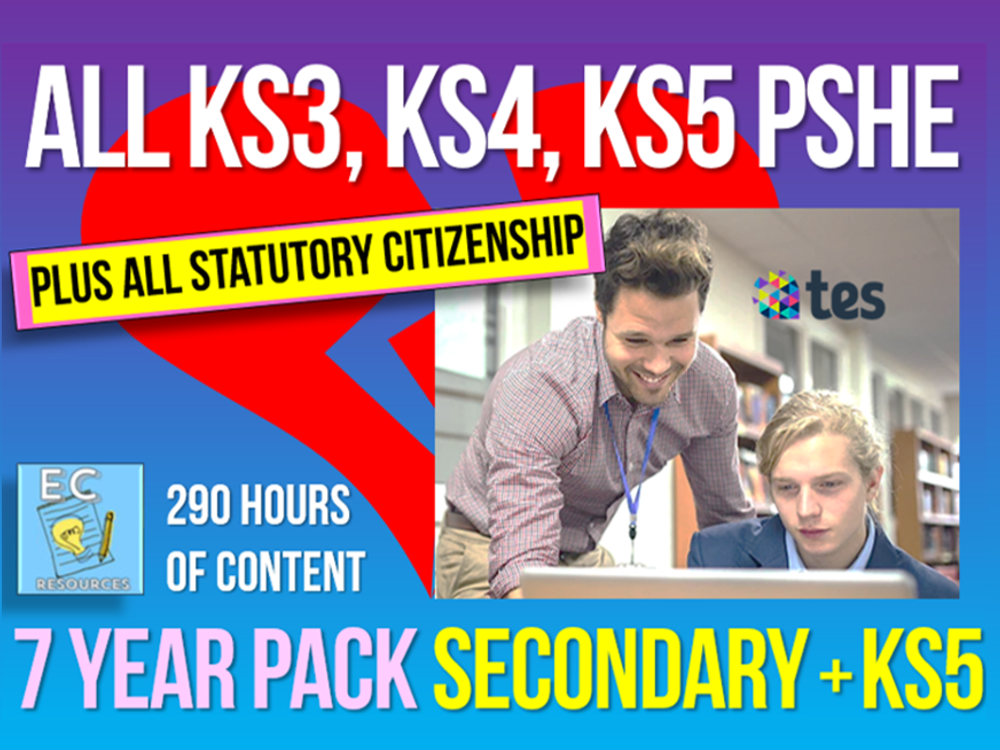 Complete Secondary + KS5 PSHE, RSE, Careers and Citizenship