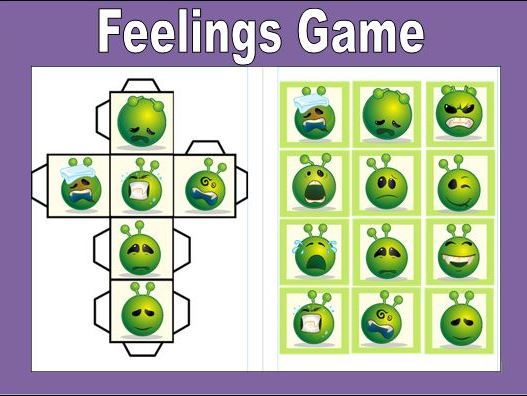 Feeling Dice Game KS1