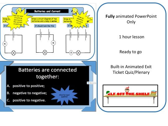 Electricity - Batteries and Current KS3 - Animated PowerPoint