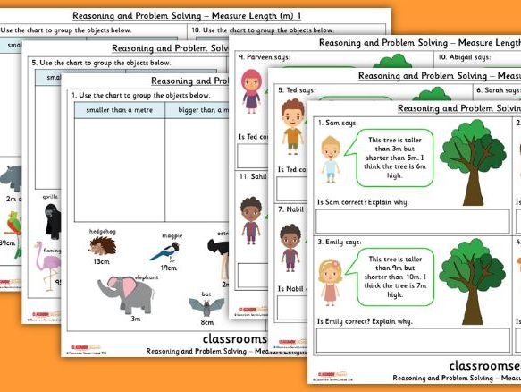 Year 2 Measure Lengths (m) Spring Block 5 Reasoning and Problem Solving Pack