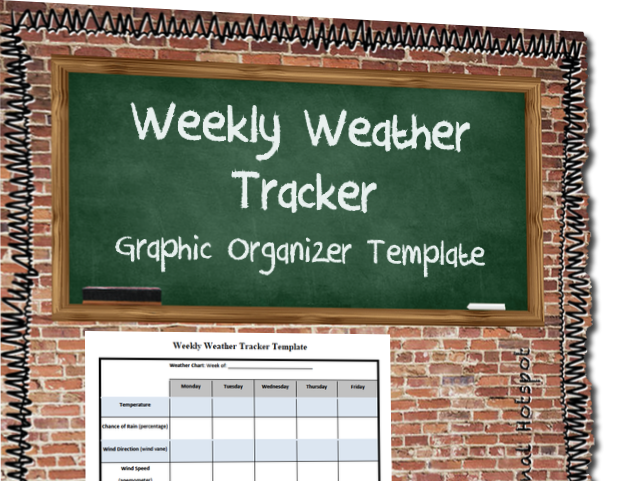 Weekly Weather Tracker Graphic Organizer Template