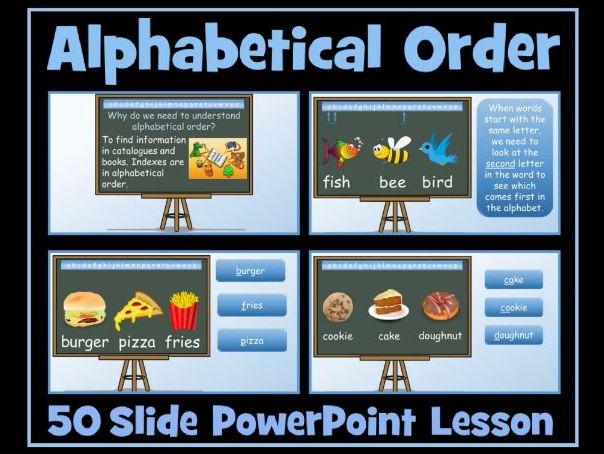 Alphabetical Order - 50 Slide PowerPoint Lesson