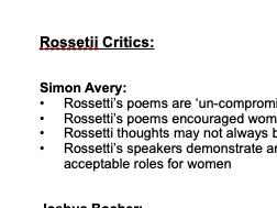 Rossetti Critics