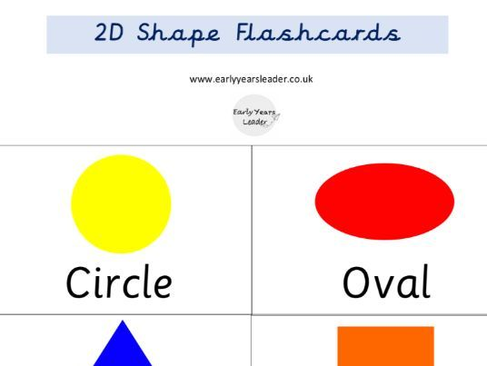 2D Shape Flashcards EYFS Year 1 Year 2