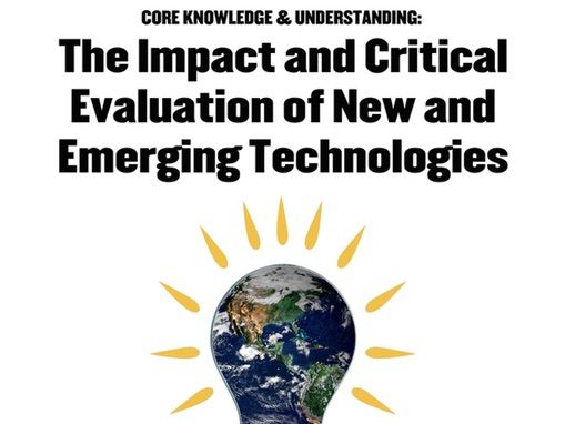 WJEC GCSE KS4 New Design & Technology Pupil Work Book Core New Emerging Technologies Workbook