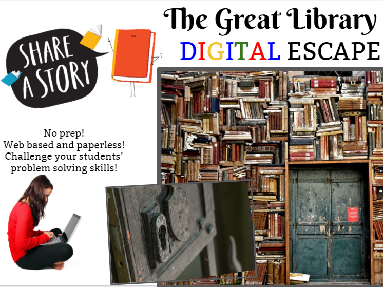 The Great Library Escape! Digital Breakout Room