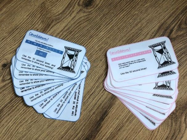 'Countdown' Task Cards