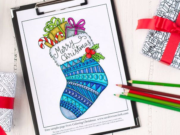 "Free Sample Page from ""Coloring Christmas"""
