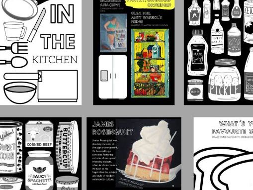18 Page Colouring & Practical Art  Book | Art In The Kitchen | Rosenquist, Arcimboldo & Reynolds