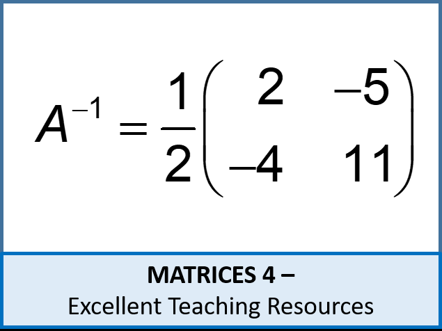 Algebra: Matrices 4 - inverse matrices intro (using the formula) ideal for IGCSE & A-Level