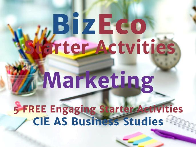 5 FREE Marketing Starters - CIE AS Business Studies Unit 3