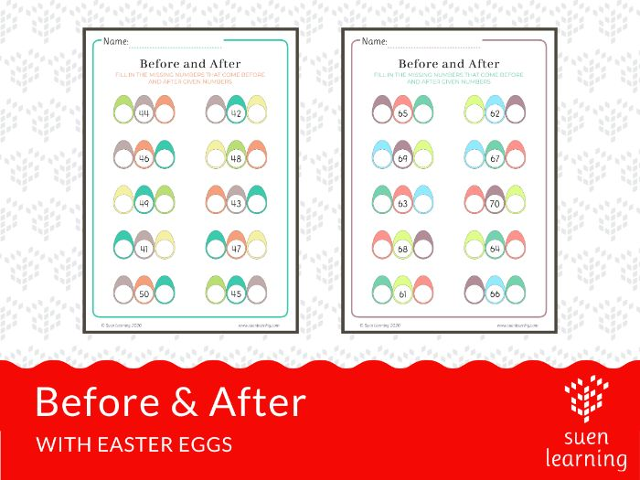 Before & After with Easter Eggs