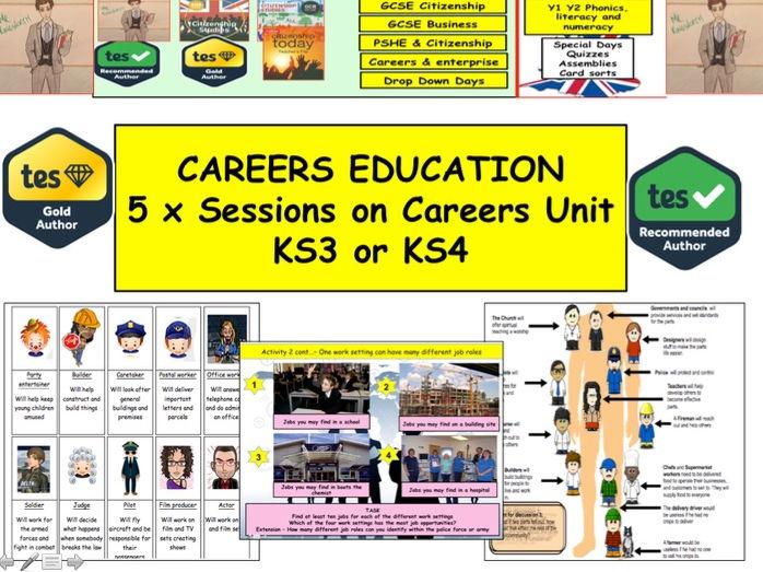 Fantastic Careers Unit of Work KS3 / KS4 - 5 sessions or Careers Drop Down Day