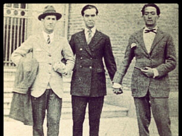 Salvador Dali, Federico Garcia Lorca and Luis Bunuel