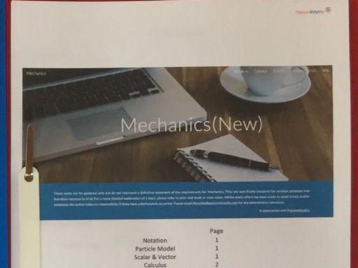 New A Level Mechanics Notes