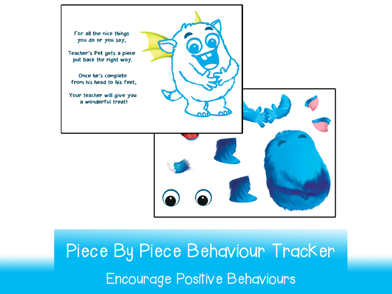 Interactive Piece by Piece Behaviour Tracker Poster  | Printable A3 and A4 | Fun Behaviour Managment